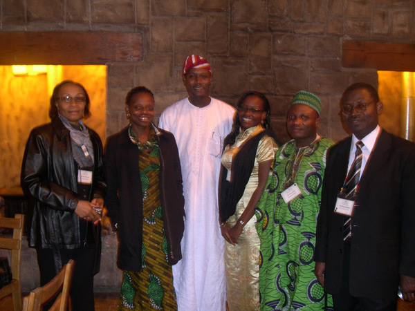 Nigerian FAIMER Fellows at SAAHE: Amam Mbakwem, Bosede Afolabi, Oluwabunmi Olapade-Olaopa, Christy Okoromah, Yinusa Raji, and Efosa Oviasu