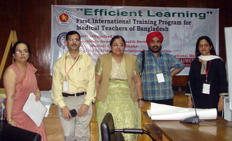 CMCL-FAIMER Regional Institute faculty conduct workshop in Bangladesh: Jugesh Chhatwal, Dinesh Badyal, Sheena Singh, Tejinder Singh, Harpreet Kapoor