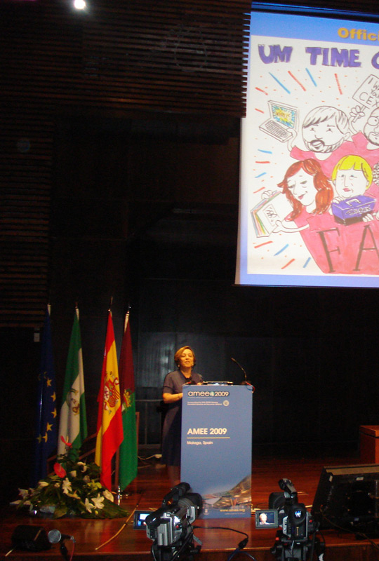 Co-Director of the Brazil-FAIMER Regional Institute Eliana Amaral speaks at AMEE 2009