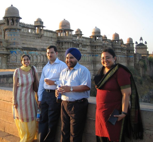 CMCL-FAIMER Regional Institute faculty in Gwalior, India: Gagandeep Kwatra, Dinesh Badyal, Tejinder Singh, and Sheena Singh