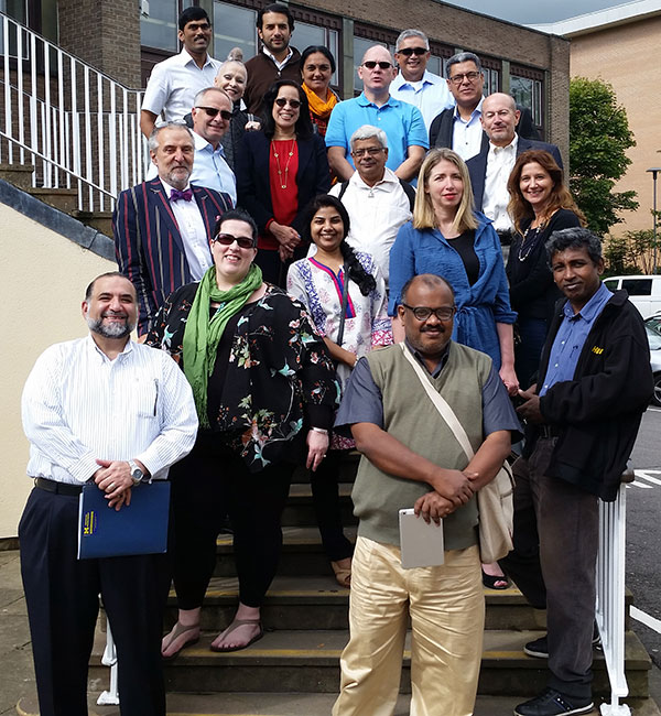 Inaugural FAIMER-Keele Master's class and faculty during residential session at Keele University