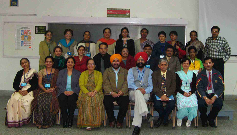 Faculty development workshop participants at Christian Medical College, Ludhiana