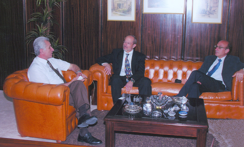 Prof. Wajih M. Owais, President of Jordan University of Science and Technology (JUST), John Norcini, Ph.D., and Ara Tekian, Ph.D