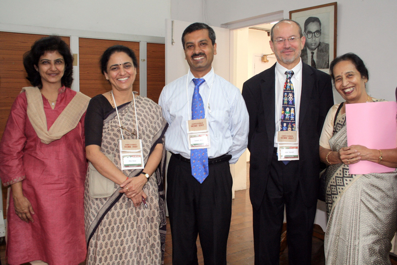 Meeting participants Payal Bansal, Rita Sood, Zubair Amin, John Norcini, and Usha Nayar