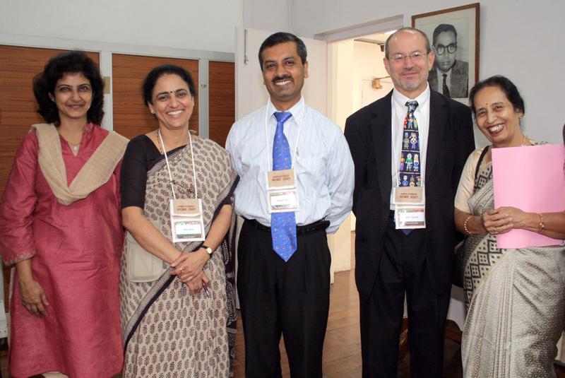 Meeting participants Payal Bansal, Rita Sood, Zubair Amin, John Norcini, and Usha Nayar