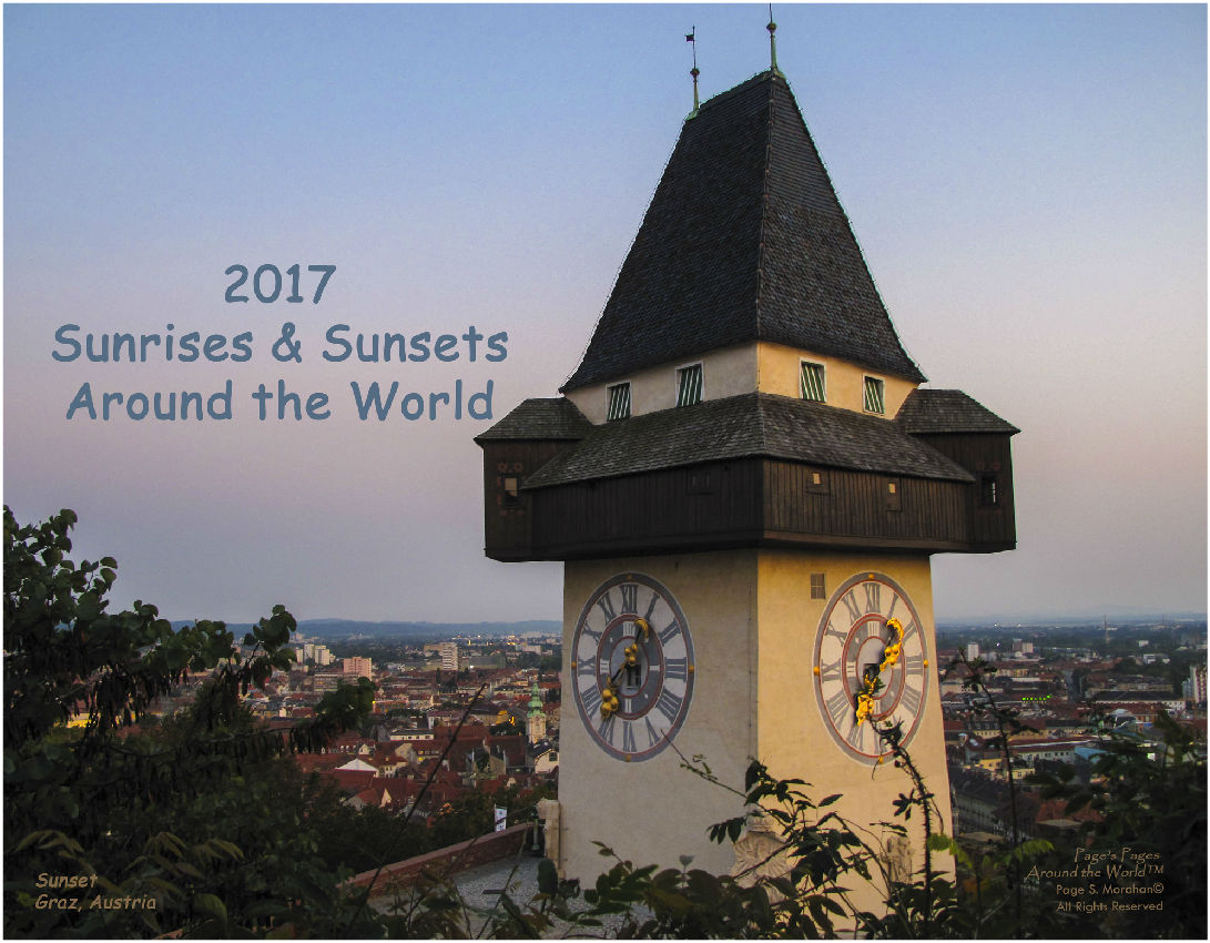 2017 Sunrises & Sunsets around the World calendar created by Page Morahan
